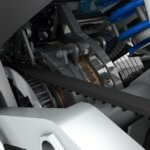 Render of the installed gearbox